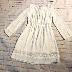 Signature Collection Ivory Long Sleeve Dress